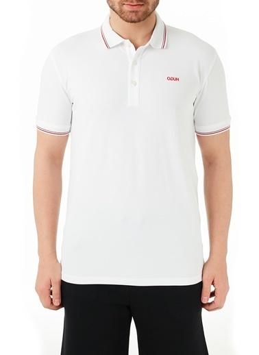 Hugo Boss  Pamuklu Slim Fit Polo T Shirt Erkek Polo 50448780 100 Beyaz